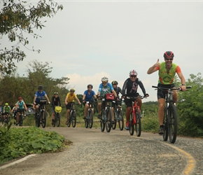Robin leads the group in southern Chiang Mai