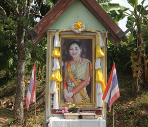 The new queen, a common sight in Thailand where Royalty is reveered