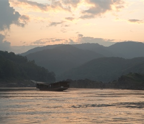 Early evening over the Mekong at Pak Beng