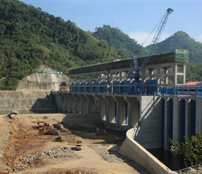 Chinese sponsored dam in construction