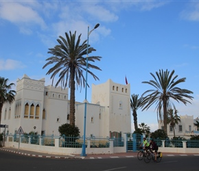 Carel, Sarah cycling through Sidi Ifni