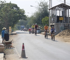 Tao leads the peleton in Thailand