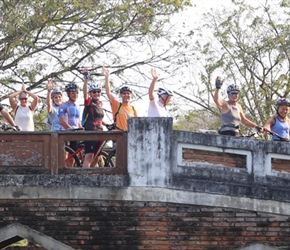 All on bridge in Ayutthaya