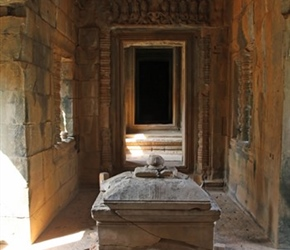 Banteay Samre, you were placed in dead, squashed, juices ran out then cremated!!