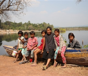 Children at reservoir