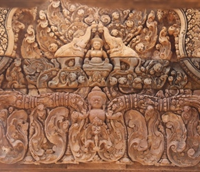 Limestone carvings at Banteay Srei