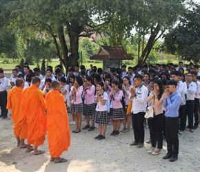 School children remember  the Killing Fields