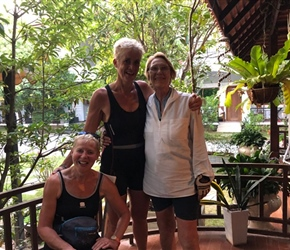 Lorna, Lynda and Elizabeth at Homestay