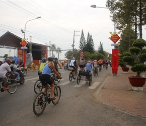 Gilly heads through Chau Doc