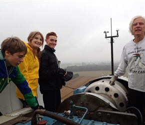 Danial Harrop, Izzy, Nick and our guide atop windmill