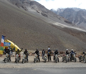 Motorcyclists also enjoyed the Manali to Leh ride