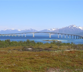 One of those amazing bridges, north of Stockmarknes