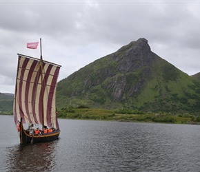 Viking Boat at Lofotr Museum