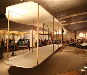 Wright brothers plane. On December 17, 1948, the forty-fifth anniversary of its first flight, the 1903 Wright Flyer was placed on display in the Smithsonian's Arts and Industries Building.