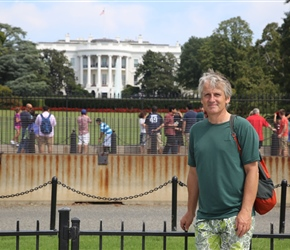Neil by the White House