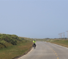 Phil on the road from Ocracoke