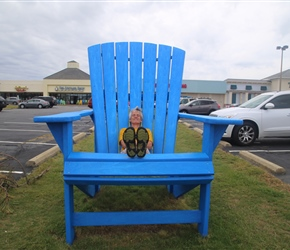 Unfeasibly last chair at a shopping centre at Nags Head