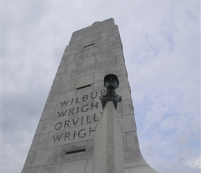 Wilbur Wright and memorial to first flight