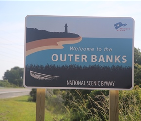 and so to the Outer Banks. A 100-mile stretch of barrier islands dotted with pristine beaches, quaint towns and historic sites.