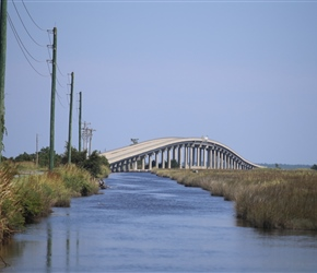 These bridges were huge and literally provided the high point of our cycle along the outer banks