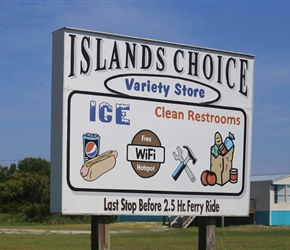 Island Choice on Cedar Island. Cedar Island is about four miles long, and is technically separated from the rest of the mainland by the West Thorofare Bay and Thorofare Creek.