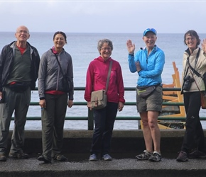 Group at Puerto Varas overlooking the lake