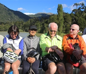 Lynne, Sima, Chris and Lester on the ferry at Puerto Frias