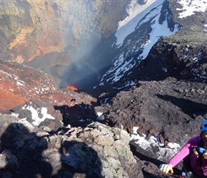 Sima and Lava at the summit