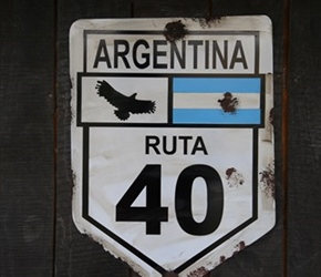 Ruta 40 Sign, we're on this