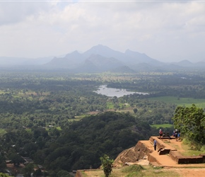 View south from the summit of Sigiriya