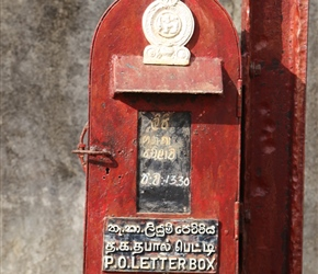 Postbox with an English influence