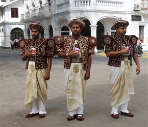 We bumped into a wedding, so here's the groom and his companions in traditional dress