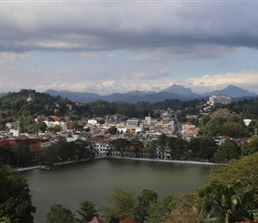 Kandy, from a viewpoint close to the hotel