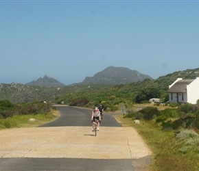 Cherry Cormack passes the visitor centre to Cape Point