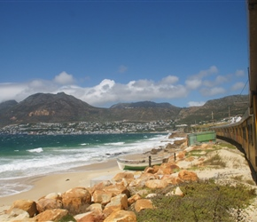 Coastal view of the Cape from the train as we approach Simonstown