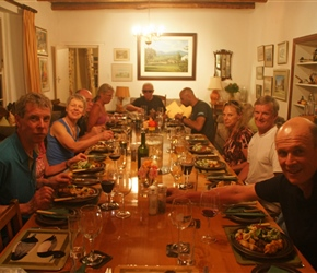Dinner at the farm, a really lovely evening, we were made to feel really welcome
