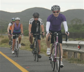 Diane, Bruce and Shery on R60, 20km from Nuy Farm
