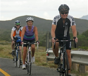 Tim, Diane and Bruce on R60, 20km from Nuy Farm