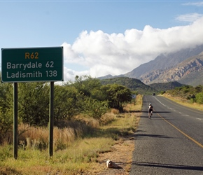 Route 62 sign out of Montagu