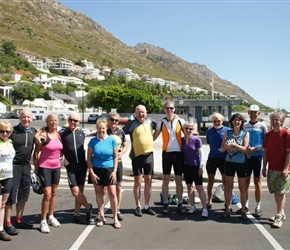 All of us at the end of the tour at Gordons Bay