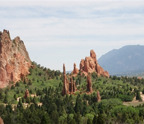 On the loop road in the Garden of the Gods
