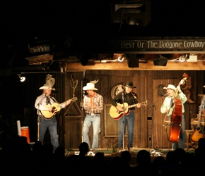 Evening concert at DW Ranch. This was a good night out cowboy food and music