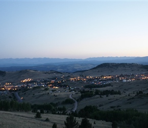 After a long day Cripple Creek comes into view
