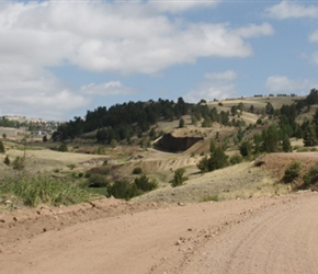 Start of the Shelf Road. Originally, Shelf Road was a stage coach route that delivered goods to and from Cripple Creek and Canon City. It was one of the first roads from the Arkansas Valley into the Cripple Creek Mining District.