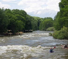 Kayaking on the Arkansa River. Salida has great whitewater