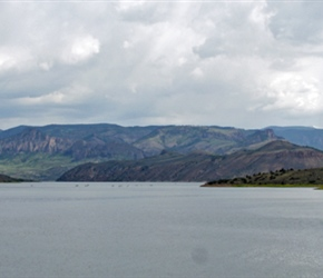 Mesa Resevoir and Sapinero from the dam