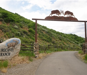 Curecanti Ranch Sign. These arches are really common as farm entrances