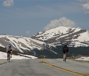 Phil arrives at the summit of Independence Pass