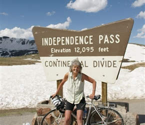 Valerie at the summit of Independence Pass