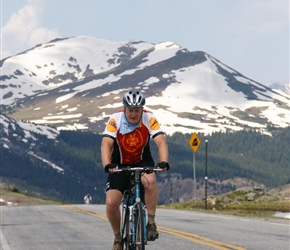 Peter arrives at the summit of Independence Pass